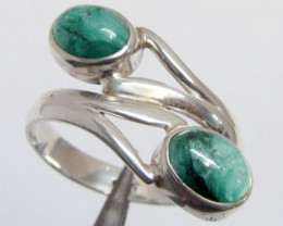 Silver Emerald Rings