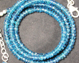 APAITITE NECKLACE -SEA BLUE 54.60 CTS [SJ856]