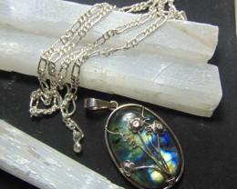 Labradorite  ~ necklace ~ nice  silvers 154.90 cts