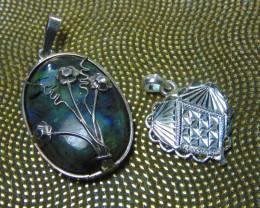 Labradorite  ~ pendent ~ nice  silvers 93.55cts