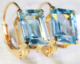 French Clip Topaz earrings 9 K GOLD GTJA 306