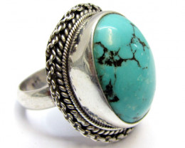 Beautiful Turquoise Ring Size 7.5 MJA352