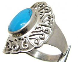 Turquoise silver ring size 9.5 MJA717