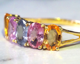 Party Sapphire Colorful Ring Gold 14K  GTJA 246