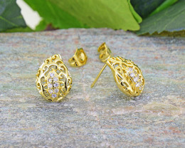 Filigree Earrings 18kt Goldfilled