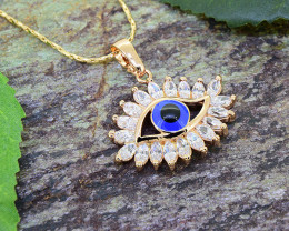 Turkish Eye 18kt Goldfilled Pendant