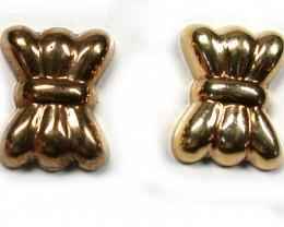 1.5 GRAMS 18K GOLD EARRING 1.50 GRAMS L623