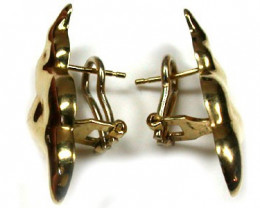 6.3 GRAMS 18K GOLD  FRENCH CLIP EARRING 6.3 GRAMS L624