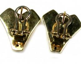 6.5 GRAMS 18K GOLD FRENCH CLIP  EARRING 6.5 GRAMS L628