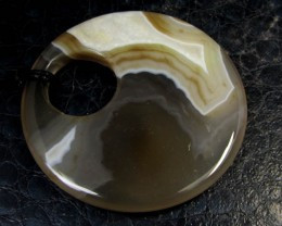 LARGE NATURAL AGATE PENDANT GG 227