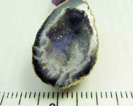 CRYSTAL DRUSY AGATE GEODE PENDANT QT400
