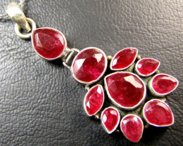 Silver Ruby Pendants