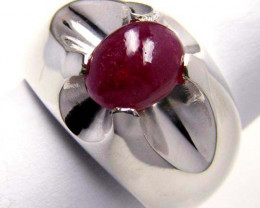 MODERN RUBY STERLING SILVER RING  GTJA 101