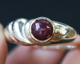 Natural Red Ruby in Silver  BU1511