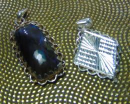 Labradorite  ~ necklace ~ nice silvers 60.10 cts