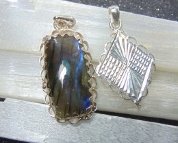Labradorite  ~ necklace ~ nice silvers 60.10 cts