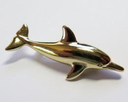 Wild Collection Australian Dolphin Brooch Enamel & Pewter