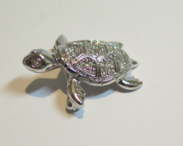 Wild Collection Australian Turtle Brooch Pewter