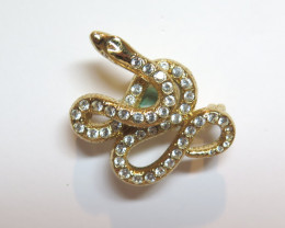 Wild Collection Australian Snake Brooch Pewter