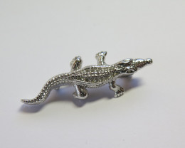Wild Collection Australian Crocodile Brooch Pewter