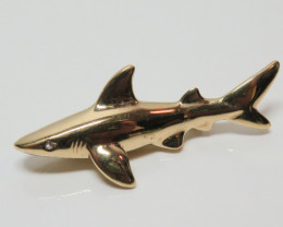 Wild Collection Australian Shark Brooch Pewter