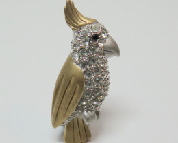 Wild Collection Australian Cockatoo Brooch Pewter