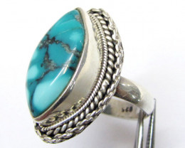 Beautiful Turquoise Ring Size 7.5 MJA355