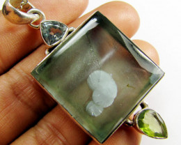 MYSTERY QUARTZ GROWTH PENDANT SILVER MYG 1331