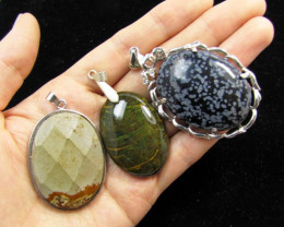 Three Jasper pendant s for price one! MJA 386