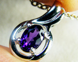 AMETHYST SET IN 14 K GOLD PENDANT MY306