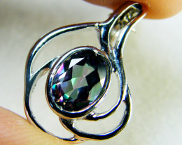 MYSTIC TOPAZ SET IN 14 K GOLD PENDANT MY298