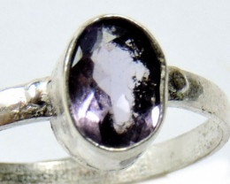 Cute Natural Amethyst Ring Size 8 JGG 122
