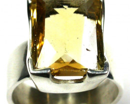 FINE CITRINE RING 38.00 CTS RING SIZE 6.5 GTJA198