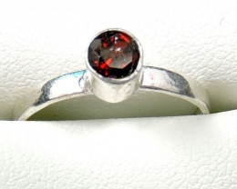 Cute Natural Garnet Ring Size 8 JGG 111