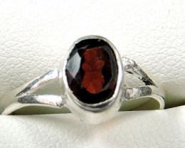 Cute Natural Garnet Ring Size 7 JGG 108