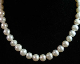 10 mmIVORY FRESH WATER PEARL NECKLACE STRAND 11 145