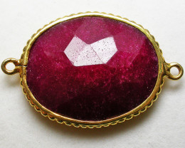 LARGE RUBY-COLOUR ENHANCED /ELECTROPLATED [SJ2556]