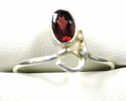 Cute Natural Garnet Ring Size 9 JGG 101