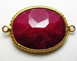 LARGE RUBY-COLOUR ENHANCED /ELECTROPLATED [SJ2557]