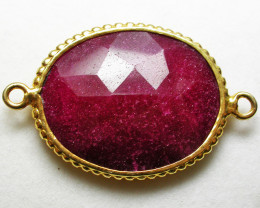 LARGE RUBY-COLOUR ENHANCED /ELECTROPLATED [SJ2553]