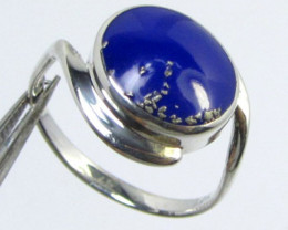 LAPIS LAZULII SILVER RING SIZE 8.5 GG 1015