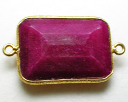 LARGE RUBY-COLOUR ENHANCED /ELECTROPLATED [SJ2547]