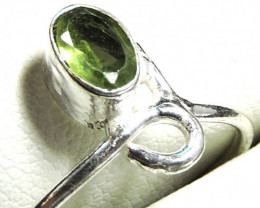 Cute Natural Peridot Ring Size 9 JGG 133