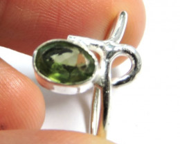 Cute Natural Peridot Ring Size 9 JGG 135