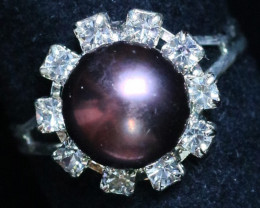 8 mm Pearl Ring size 6 PPP 851