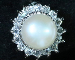 8 mm fFresh Water  Pearl Ring size 5.5  AM 1072