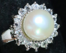 8 mm Fresh Water Pearl Ring size 8 AM 1073