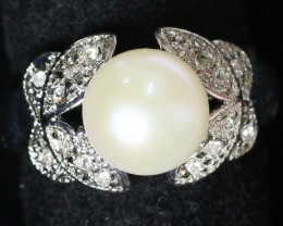 8 mm Pearl Ring Size 5 PPP 837