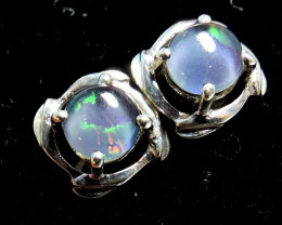 Cute Triplet opal earrings silver Pl 1086