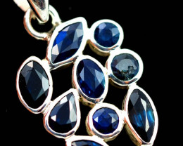FACETED SAPPHIRES SET IN SILVER PENDANT TOP [SJ4500]